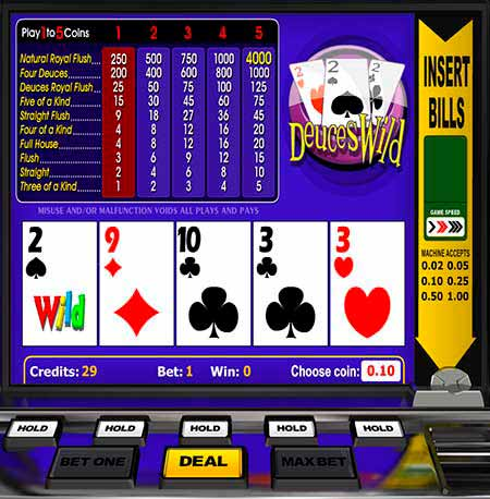 Deuces Wild Bitcoin / Litecoin / Dogecoin Video Poker w BitcoinPenguin.