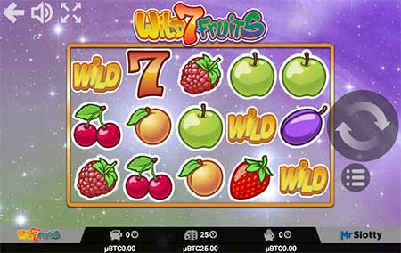 Wild 7 Fruits spilleautomat fra casinospillleverandør MrSlotty.