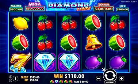 Diamond Strike spilleautomat i FortuneJack casino.